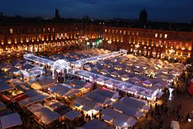 Christmas market in Toulouse France Etats-Unis