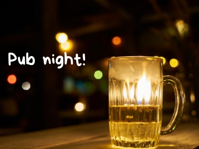 French-American club pub night in Toulouse