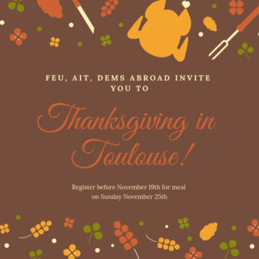 Celebrate Thanksgiving in Toulouse